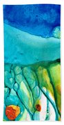 Abstract Art - Journey To Color - Sharon Cummings Beach Sheet