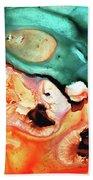 Abstract Art - Just Say When - Sharon Cummings Beach Sheet