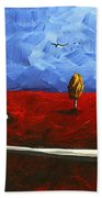 Abstract Art Original Landscape Painting Winding Road By Madart Beach Towel