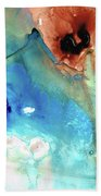 Abstract Art - The Journey Home - Sharon Cummings Beach Sheet