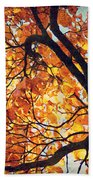 Abstract Autumn Impression Beach Towel