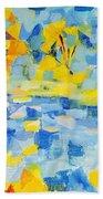 Abstract Autumn Landscape Beach Towel