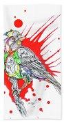 Abstract Bird 002 Beach Towel