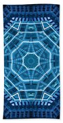 Abstract Blue 18 Beach Towel