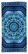 Abstract Blue 20 Beach Towel