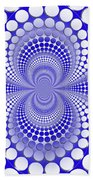 Abstract Blue And White Pattern Beach Towel
