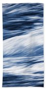 Abstract Blue Background Wild River Beach Towel