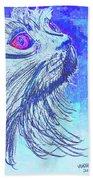 Abstract Blue Cat Beach Sheet