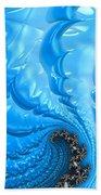 Abstract Blue Winter Fractal Beach Towel