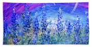 Abstract Bluebonnets Beach Towel