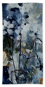 Abstract Bunch Of Flowers  Beach Towel