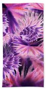 Abstract Burst Of Flowers Beach Towel