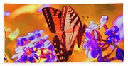 Abstract Butterfly Beach Towel