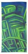Abstract Cityscape Series IIi Beach Sheet
