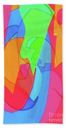 Abstract Color Block  Beach Towel