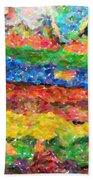 Abstract Color Combination Series - No 8 Beach Towel