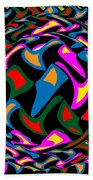 Abstract Colorful Art Exploded View Of Whirlwind At Its Builds On Dry Leaves Beach Towel