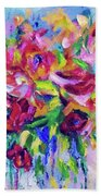 Abstract Colorful Flowers Beach Towel