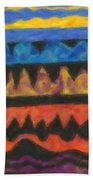 Abstract Combination Of Colors No 4 Beach Towel