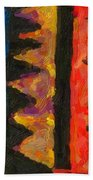 Abstract Combination Of Colors No 5 Beach Towel