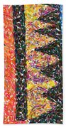 Abstract Combination Of Colors No 6 Beach Towel