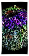 Abstract Cone Flower Digital Painting A262016 Beach Towel