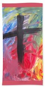 Abstract Cross Beach Towel