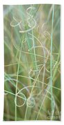 Abstract Curly Grass One Beach Towel