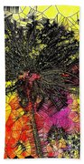 Abstract Dandelion Stained Glass Beach Towel