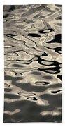 Abstract Dock Reflections I Toned Beach Towel