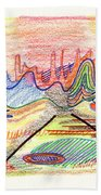 Abstract Drawing Five Beach Towel