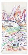 Abstract Drawing Nineteen Beach Towel