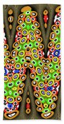 Abstract Drawing Panel Beach Towel