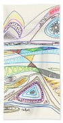 Abstract Drawing Seventeen Beach Towel