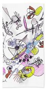 Abstract Drawing Seventy-two Beach Towel
