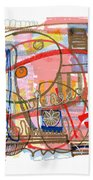 Abstract Drawing Sixty-eight Beach Towel