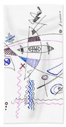 Abstract Drawing Sixty-four Beach Towel