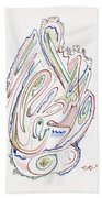Abstract Drawing Sixty Beach Towel
