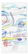 Abstract Drawing Sixty-three Beach Towel