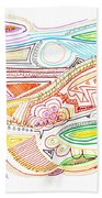 Abstract Drawing Sixty-two Beach Towel
