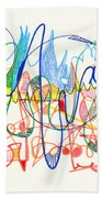 Abstract Drawing Two Beach Towel