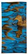 Abstract Duck Beach Towel