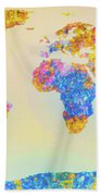 Abstract Earth Map 2 Beach Towel by Bob Orsillo