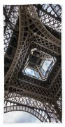 Abstract Eiffel Tower Looking Up 2 Beach Towel