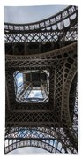 Abstract Eiffel Tower Looking Up Beach Towel