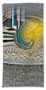 Abstract Entrada Twirl Break Beach Towel