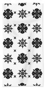 Abstract Ethnic Seamless Floral Pattern Design Beach Towel