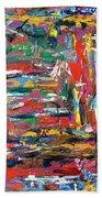 Abstract Expressionism Bvdschueren Beach Towel