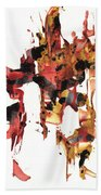 Abstract Expressionism Painting Series 744.102110 Beach Towel