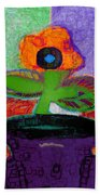 Abstract Floral Art 114 Beach Towel
